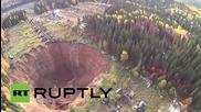 Русия: Дрон засне свлачище