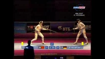 Womens Epée Final St.Petersburg 2007 bout 1