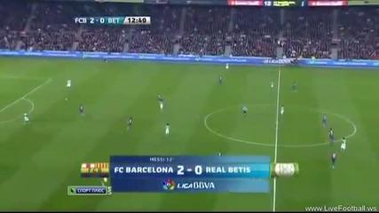 Барселона - Бетис 4 - 2 15.01.2012