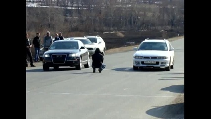 Audi A6 quatro 3 2 vs Mitsubishi Legnum Vr 4 Types заезд1 ч1