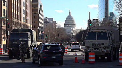 USA: Heavy National Guard and police presence in DC ahead of Biden's inauguration