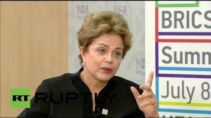 Russia: Rousseff dismisses criticism of Brazilian economy, touts low debt level