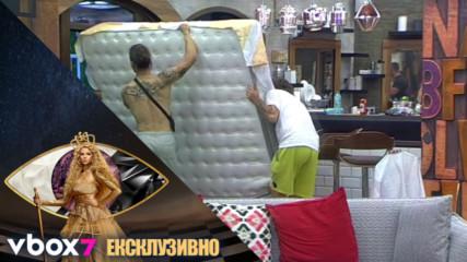 Papi Hans разрешава проблемите си със спането на двора - VIP Brother 2018