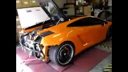 Lamborghini Gallardo With Custom Exhaust