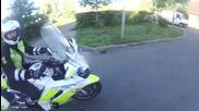 Епично изплъзване от полицията със скутерче