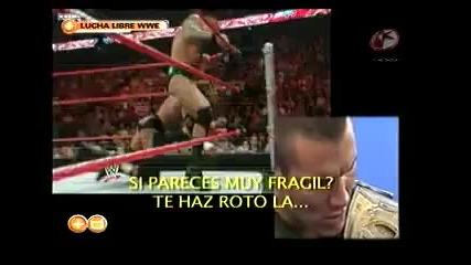 Randy Orton за малко да пребие водещ на шоу в мексико