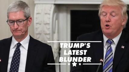 Trump calls Apple CEO Tim Cook 'Tim Apple'