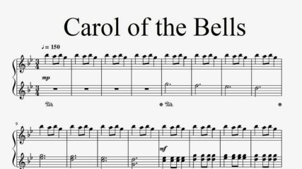 """Carol of the Bells"" - Piano sheet music (by Tatiana Hyusein)"