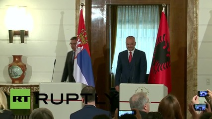 Albania: Serbian PM Vucic visits Albanian counterpart Rama in historic meeting