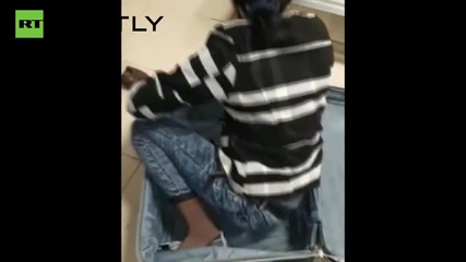 Turkey: Woman tries to smuggle herself over the border in SUITCASE