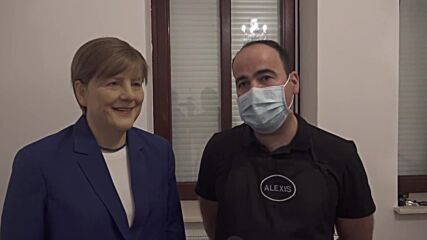 Angular Merkel - real life-size wax figure presented prior to chancellor's departure