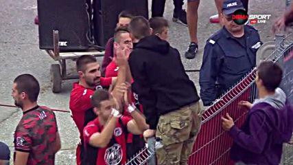 Заслужената радост на Локо София след победата над ЦСКА