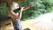 Shooting the Remington 870 16ga Pump Shotgun - Girls Shooting Guns