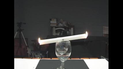 трик със свещ !
