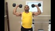 Бодибилдинг упражнения - Раменна преса с дъмбели Vbox7