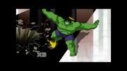 Отмъстителите: Най-могъщите герои на Земята / Хълк в битка с Ракетата и Грут