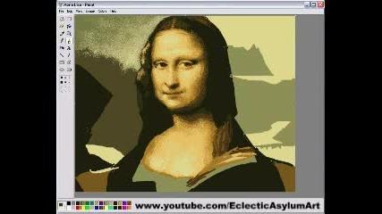 Мона Лиза Нарисувана С Paint