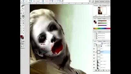 photoshopped zombie make up on scarlet johanson