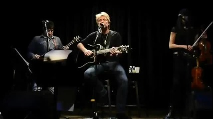 Jon Bon Jovi - Old Habits Die Hard (live 11_9_12) - Brand New Song