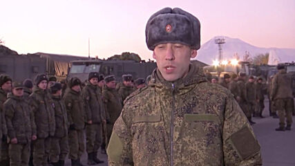 Armenia: Russian military convoy en route to Stepanakert for demining mission