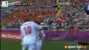 Датският Динамит избухна срещу Холандия,в първия си мач на Евро 2012