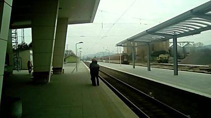Бръз влак заминава от гара Пазарджик