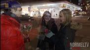 Пичове получават целувки в замяна на рози / Roses For Kisses On Valentine's Day || Normeltv