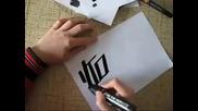 Handstyle Graffiti tagg Konte