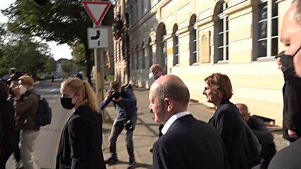 Germany: Scholz arrives to cast vote in federal election