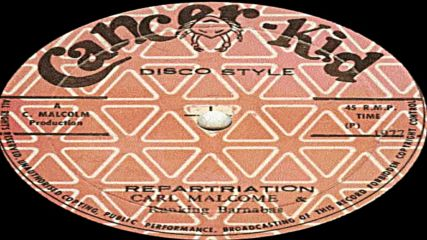 Carl Malcolm and Ranking Barnabas - Repatriation 1977 reggae
