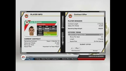 Fifa13 manager mode Botev Plovdiv S1 Ep2
