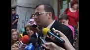 Лидерът на СДС Мартин Димитров гласува