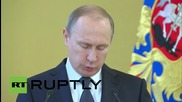 """Russia: """"We have no aggressive plans and cannot have them"""" - Putin"""