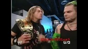 Randy Orton & Edge Jeff Hardy & Matt Hardy Backstage