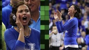 Dick Vitale Kisses Ashley Judd on the Lips Before SEC Championship Game