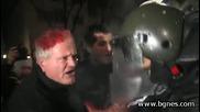 Девет души в Пирогов след сблъсъци на протеста в София
