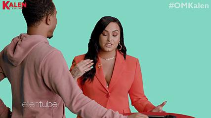 'omkalen': Kalen & Demi Lovato Play 'who Is the Bigger Demi Fan?'