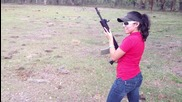 Gabby Franco shooting the .300 Blackout Ar15 like a Girl, Ar15's aren't for Sissies!!