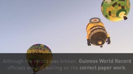 Балони изпълниха небето между Великобритания и Франция