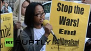 """USA: 'Open the Borders' protest US imperialism & the """"war"""" on Mexican people"""