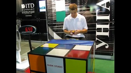 Панаира в Пловдив - подреждане на кубчето на Рубик за 15 секунди
