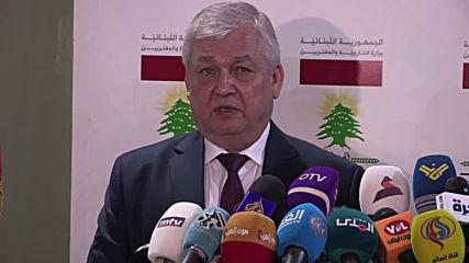 Lebanon: Russia's envoy to Syria meets with Lebanese leadership