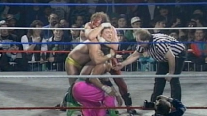 Terry Funk unloads on Shane Douglas at ECW The Night the Line was Crossed 1994