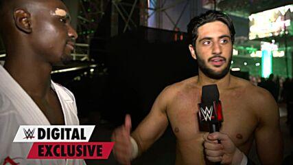 Mansoor celebrates with Tareg Hamedi: WWE Digital Exclusive, Oct. 21, 2021