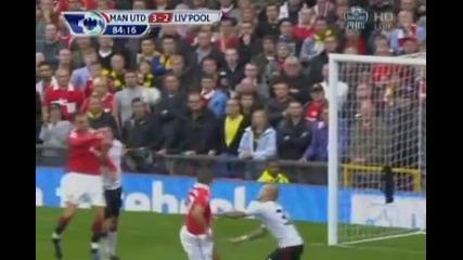 Manchester United - Liverpool 3 - 2 Димитар Бербатов