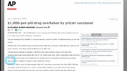 $1,000-PER-PILL DRUG OVERTAKEN BY PRICIER SUCCESSOR