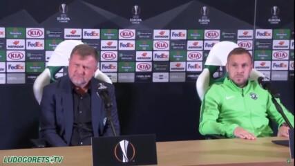 Пресконференция на Лудогорец преди мача с Антверп
