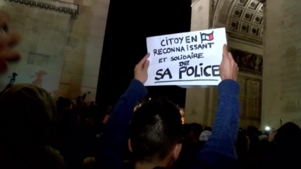 France: Balaclava clad police officers march through Paris