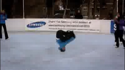 Beatbox and break dance on ice