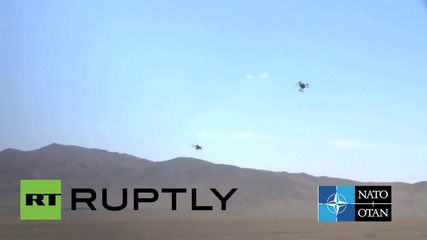 Afghanistan: Air Force demonstrate their six new MD-530F helicopters